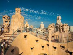Casamila2-940x705 pour laa vue des toits sur Barcelone