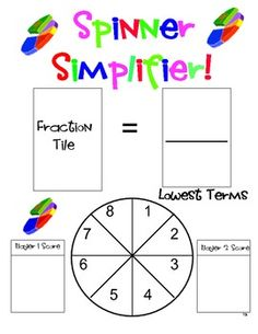 Love this fraction game! $