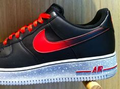 Nike Air Force 1 Low – Black – Challenge Red