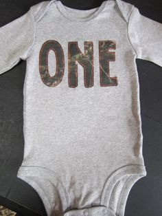 Realtree first birthday onesie Camo by PaisleyPrintsSpokane, $19.95