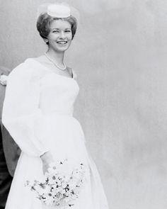 Martha Stewart at age 19 on her wedding day