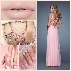 La Femme 20978 ~ chanel ~ pink prom dress ~ long prom dress ~ metallic heel ~ pageant ~ nail inspo ~ sweetheart neckline ~ chiffon dress ~ open back dress ~