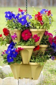 HANGING GARDEN PLANTER- FLOWER POT-- INDOOR OUTDOOR, Fruits, Vegatable