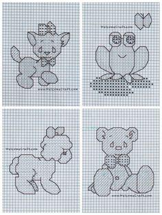 Cross Stitch Baby Animals