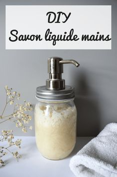 Savon liquide main maison Homemade liquid hand soap - Add honey and olive oil to not dry hands