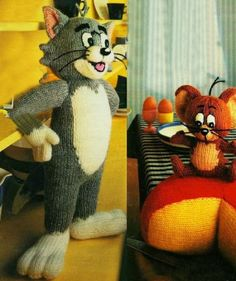 Tom and Jerry Vintage Knitting Pattern  door exceptionalpatterns, $8.00