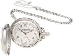 Montana Time WATCH20-55 Crossed Pistols Analog Pocket Watch