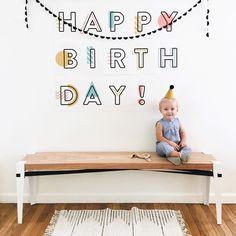 Happy Birthday Sign   @modernburlap loves