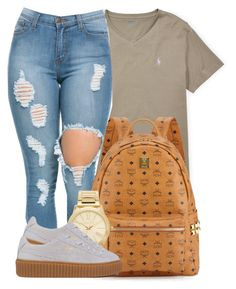 """""""It'd be a Shame if we let this Moment be wasted."""" by bria-myell ❤ liked on Polyvore featuring Ralph Lauren, MCM, Michael Kors and Puma"""