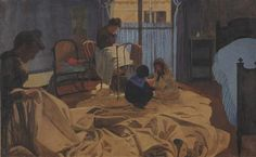 The Laundress, Blue Room - Felix Vallotton