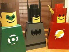 I saw another lego man costume instructable (http://www.instructables.com/id/The-Justice-Lego-League-of-America-saving-the-worl/ ) and I just HAD to make it for my kids. I found an AMAZING site with lots of DC heroes: http://www.flickr.com/photos/levork/4966756896/in/set-72157603262151483/lightbox/ but my kids wanted the three they saw on the video, so who am I to argue with 'em. BTW, this is my first instructable, so my apologies if it sucks. The first thing I did was try to compare the…