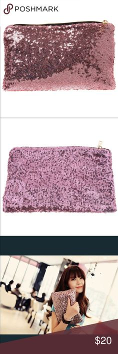 "Women's Dazzling Sequin Clutch Women's Dazzling Sequin Clutch. 10.5"" x 6.5"".  Pink in color. NWT. Super cute. Bags Clutches & Wristlets"