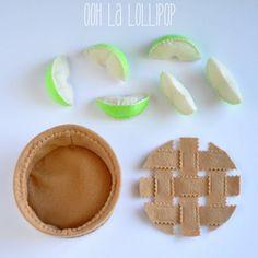 Make Your Own Apple Pie felt apple pie play food pretend | Etsy