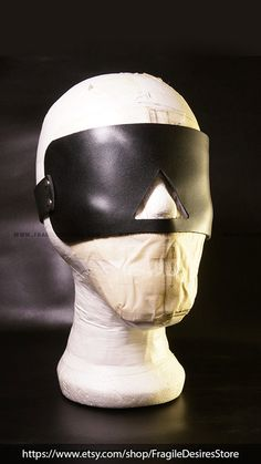 Genuine Leather Blindfold Panel Mature by FragileDesiresStore