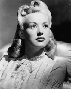 Pretty Betty Grable- gorgeous 1940s victory rolls