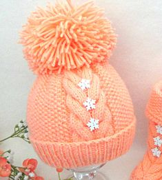 ................... PATTERN ................... .......... INSTANT DOWNLOAD ....... This listing for Knitting PATTERN Baby Hat ( PDF file ) Price is ONLY for the PATTERN and NOT for the finished item !