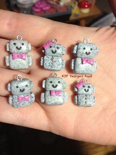 Mini robot charms by KJP Designs Aust