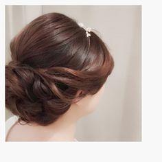 ウェディング ヘアメイク * hairstyle,wedding hair,bridal hair,ヘアセット,アレンジヘア,アップスタイル,結婚式ヘアセット, ⬜️The dimple-bee designs hairstyle and accessories⬜️