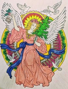 ColorIt Free Coloring Pages Colorist: Darlene Geloso #adultcoloring #coloringforadults #adultcoloringpages #FreeChristmasPages