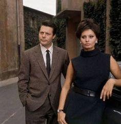 """Marcello Mastroianni con Sophia Loren """"Ieri,oggi, domani"""" di Vittorio De Sica (1963)"""