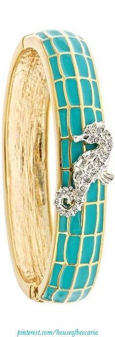 ~Enamel Bangle with Jeweled Seahorse | The House of Beccaria