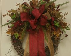 Fall Rustic Wreath by ScottsOnTheSquare on Etsy