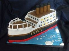 Titanic cake.