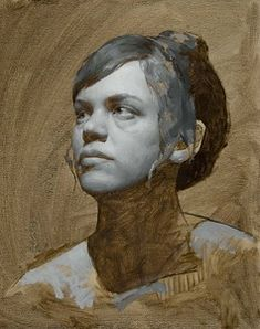 KATIE G. WHIPPLE Grisaille Portrait of Sara  Oil on Linen  10 x 8  www.StoriesOfContemporaryRealism.com Artist Painting, Figure Painting, Figure Drawing, Painting & Drawing, Art And Illustration, Figurative Kunst, Portrait Art, Portrait Paintings, Face Art