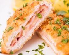 Escalope de veau cordon bleu Chicken Cordon Bleu, Omelette, Fodmap, Salmon Burgers, Poultry, Carne, Entrees, Mashed Potatoes, Sushi