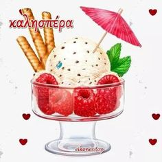Ice Cream with Rasberries .I have to paint like this someday. Illustration Dessert, Ice Cream Illustration, Cupcakes, Ice Cream Art, Ice Cream Painting, Cream Cake, Food Clipart, Cute Food Art, Food Design