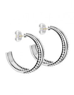 LAGOS Jewelry | Imagine Hoop Earrings Sterling Silver. Available at Hingham Jewelers!