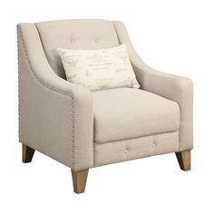 Georgina Beige Accent Chair - Overstock™ Shopping - Great Deals on Living Room Chairs