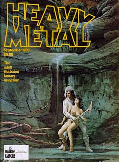 Heavy Metal is an American science fiction and fantasy comics magazine, known primarily for its blend of dark fantasy/science fiction and erotica. Fantasy Comics, Sci Fi Fantasy, Dark Fantasy, Fantasy Women, Heavy Metal Movie, Heavy Metal Art, Metal Fan, Metal Magazine, Magazine Art