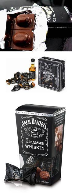 Chocolate suíço com recheio de Jack Daniel's