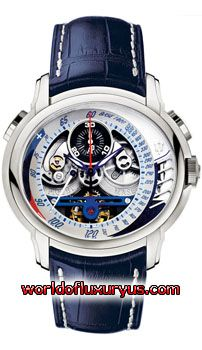 26069PT.00.D028CR.01 - Limited Edition to 150 pieces! This Audemars Piguet Millenary MC 12 Maserati Tourbillon watch in platinum features a 47mm case, skeletonized, off-center, tachometric scale dial, and a blue leather strap with AP deployant clasp. - See more at: http://www.worldofluxuryus.com/special/Audemars-Piguet/Limited-Editions/26069PT.OO.D028CR.01/62_535_420.php#sthash.FF0ui5hR.dpuf