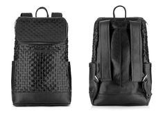 TOPMAN-LUX-WOVEN-LEATHER-BACKPACK