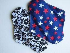 2 Cloth Pads Cotton/ PUL Menstrual Sanitary by JuliansBoutique, $9.99