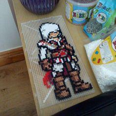 Ezio Assassin´s Creed perler beads by mattyperler