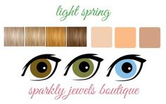 Light Spring Color Palette Eyes, Skin, and Hair.