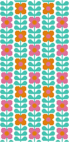 Cross Stitch Pattern, 'Wallflower' PDF