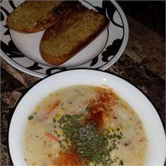 Grandma's Corn Chowder - Allrecipes.com  I made this and it is soooo yummy