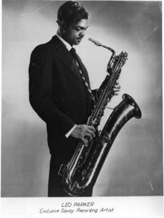 Leo Parker was the proud owner of a big, beefy baritone sax tone and a fluent technique that struck a great match between the gritty, down-home feeling of R&B and the advanced harmonies of bebop. Description from jazzbarisax.com. I searched for this on bing.com/images