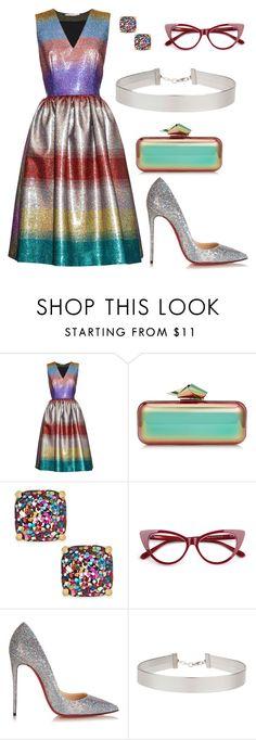 """""""Untitled #181"""" by whatisshewearing ❤ liked on Polyvore featuring Marco de Vincenzo, Jimmy Choo, Kate Spade, Christian Louboutin and Miss Selfridge"""
