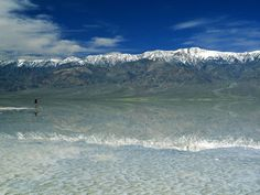 Death Valley Badwater Basin - a salt flat in the lowest point in North America