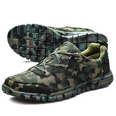 Changping Ultralight Breathable Camouflage Running Shoes More Prestige Training Shoes Size39 Armygreen * You can get additional details at the image link.