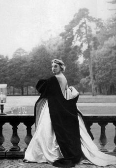Margaret Phillips wearing a gown by Givenchy, 1952. Photo by Henry Clarke.