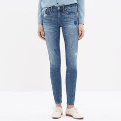 <b>Risk-Free Jeans: Free shipping and returns on all jeans, all the time. </b>These lean, sexy jeans start out perfectly pristine before being artfully distressed to create a well-loved vibe. Our team of denim experts paints and smudges every single pair. The result? Each unique pair looks and feels like you've had—and loved—it forever. (All this in our special denim that has tons of stretch, never bags out and does life-altering things to the rearview.) <ul><li>Sit at hip.</li><li>Fitted…