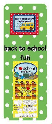 Back to school fun   English & Spanish