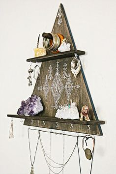 jewelry rack jewelry hanger jewelry hooks necklace by OurFolkLife #jewelrydisplayideas