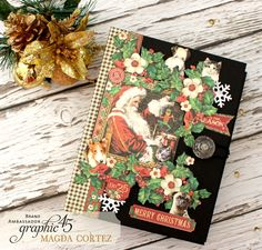 Hello, G45ers!Today we are here withMagda Cortezwith a holiday album for all the pet lovers out there. Magda has combinedSt NicholasandRaining Cats & Dogsto create a beautiful album that even your cats and dogs can appreciate. We love the way she has made the pallets from each collection wo